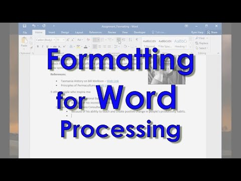 Formatting - Word Processing Skills