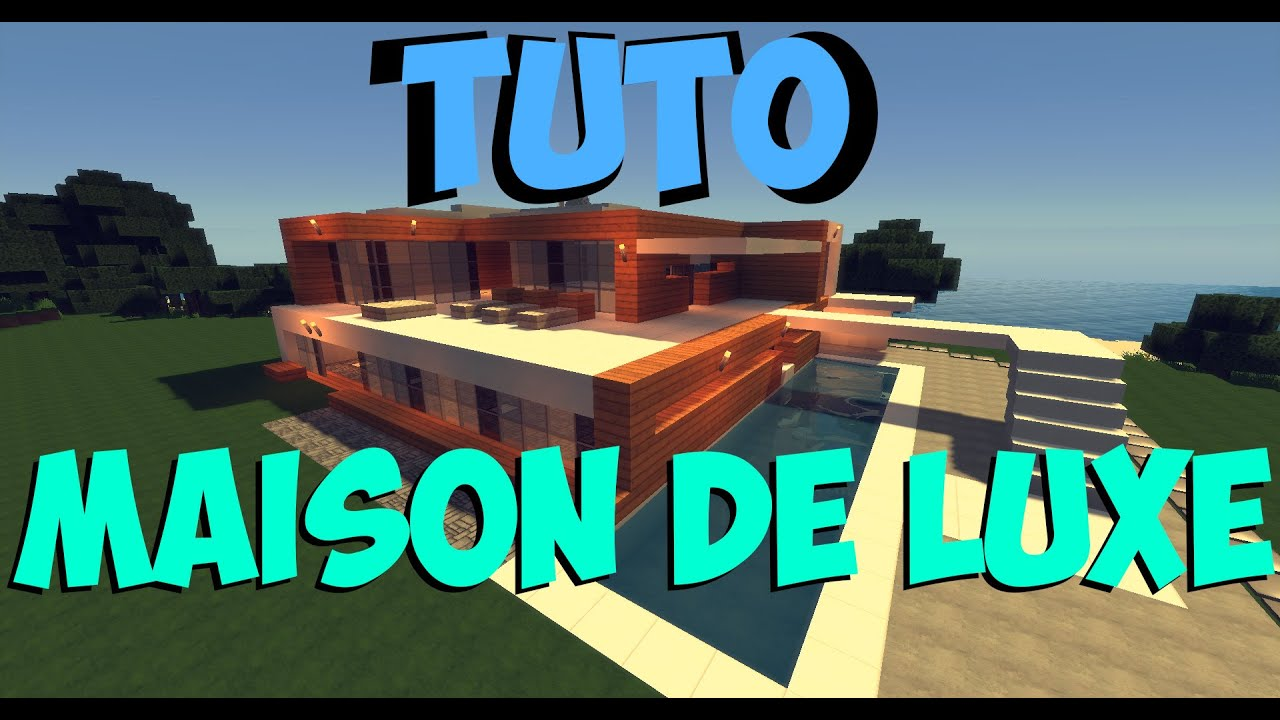 tuto maison de luxe moderne sur minecraft 1 youtube. Black Bedroom Furniture Sets. Home Design Ideas