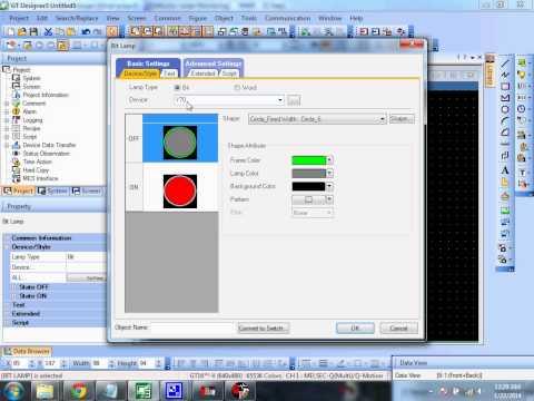 Designing and connecting GX Developer with GT Designer3 (PLC Programming Software - Mitsubishi)