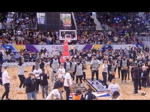 Team LeBron Halfcourt Heaves! 2018 All-Star Practice