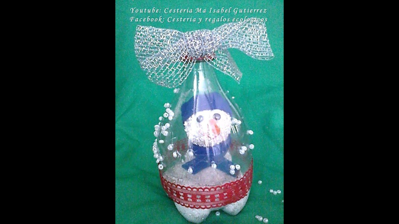 Encantador Adornos Navideos Con Botellas Plasticas Molde Ideas de