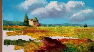 видео Смешанный способ живописи (разного вида красками)