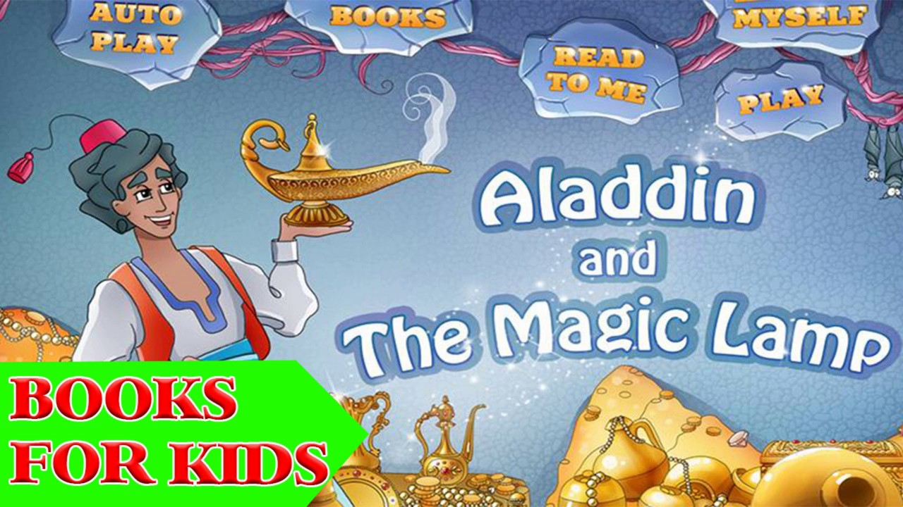 Books For Kids - Aladdin And The Magic Lamp, Audio Book For Kid ... for Aladdin And The Magic Lamp Book  181pct