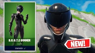 NOUVEAU B.R.U.T.E. GUNNER Skin Gameplay à Fortnite!