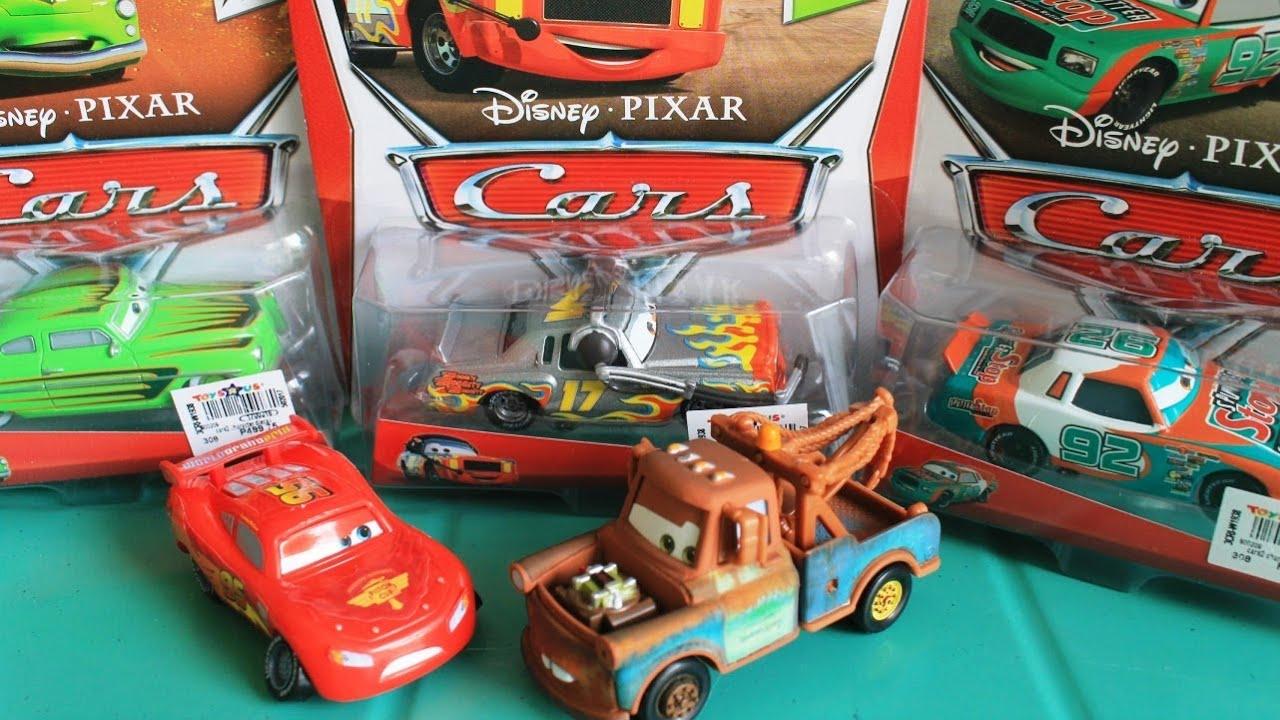 Cars Mater Lightning McQueen Sputter Stop Edwin Kranks Darrell Cartrip Matel Cars 2 Toys