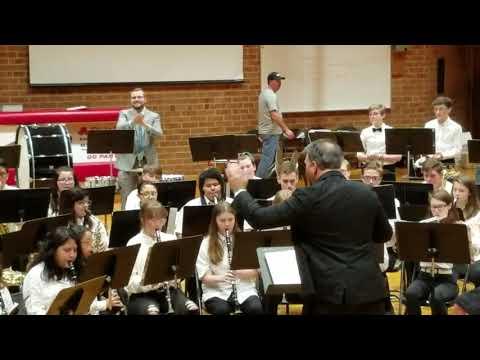 Christian Bruce WCU Student Teacher Macon County Middle School Band Franklin NC 5/9/19 Mr Graham