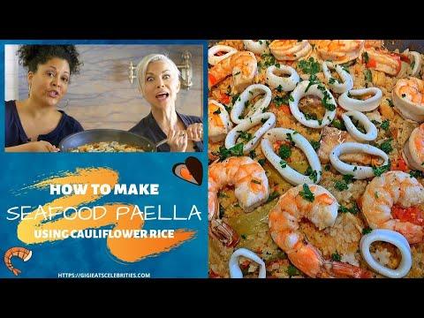 Cauliflower Paella With Shrimp