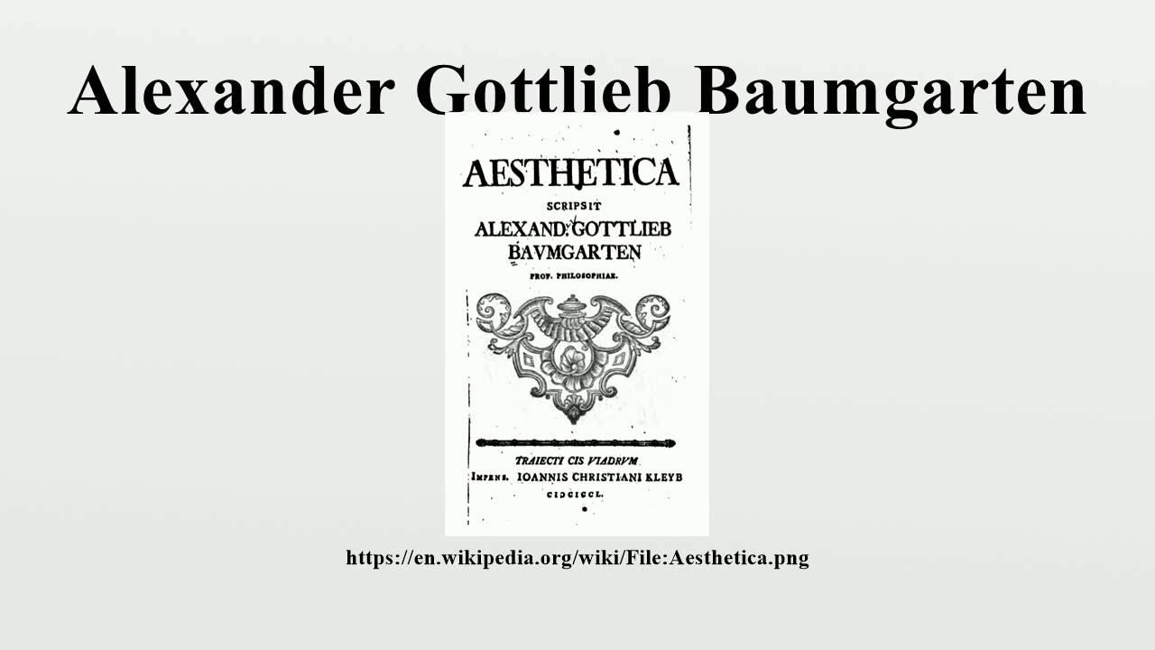 Alexander baumgarten aesthetica pdf converter