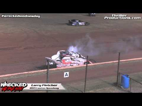 Wrecked Wednesday 3 Larry Fletcher at Lawton Speedway in 2015