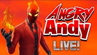 Angry Andy's FORTNITE LIVESTREAM | ZONE WARS | HIGH KILL SOLOS | Giveaway!
