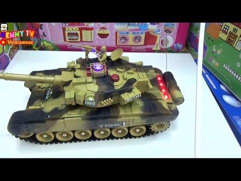 Xe tăng chiến đấu điều khiển từ xa - Đồ chơi trẻ em xe tăng mô hình - Toy tank battles