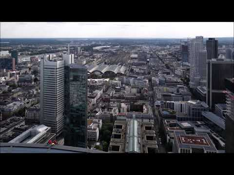 Germany: Some views over the city of Frankfurt am Main