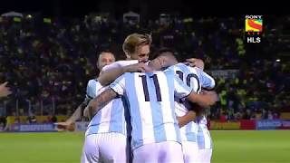 Ecuador v Argentina(1-3)   Full Match Highlights  English Commentry