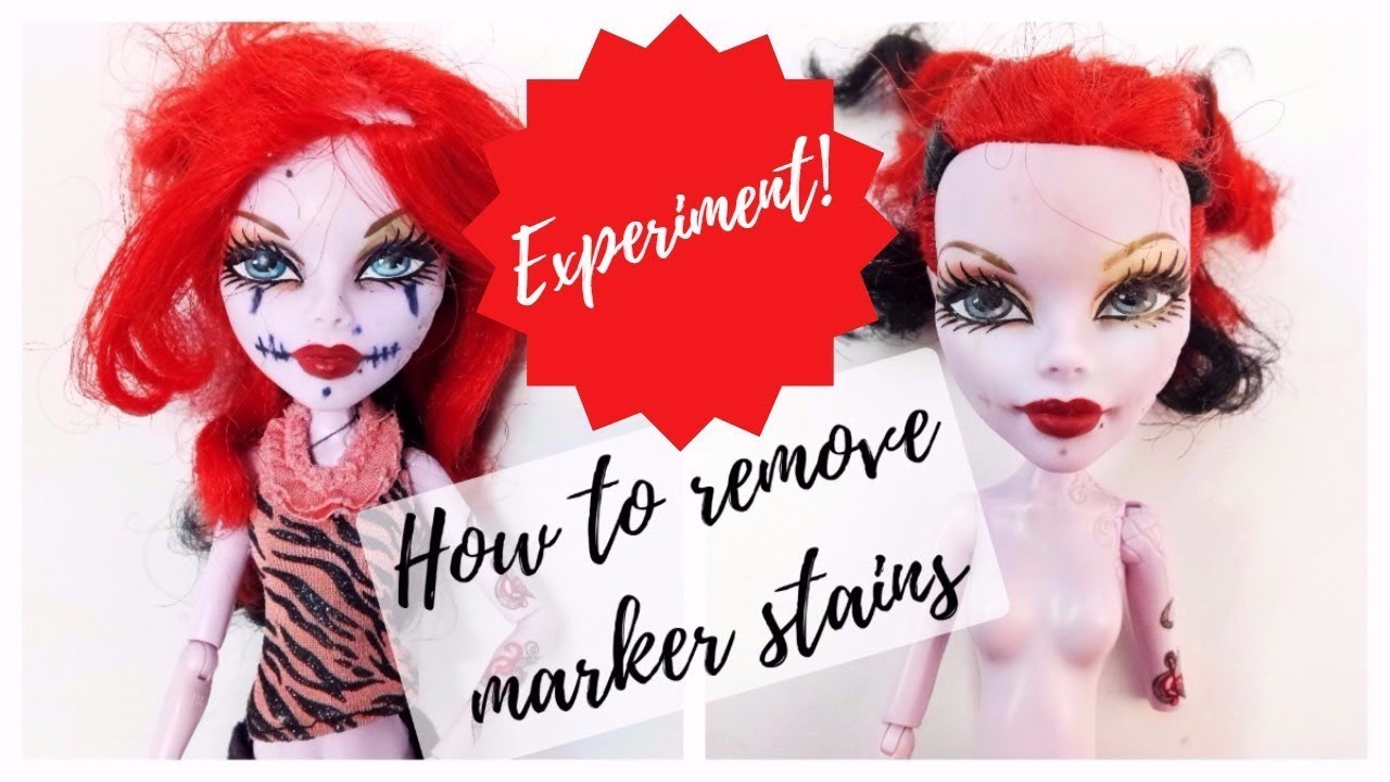 How To Remove Permanent Marker From Doll Face Testing Lifehacks