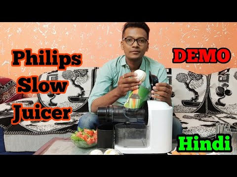 Philips Slow Juicer Hr1887 Demo In Hindi Best Slow
