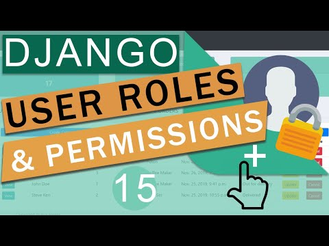 User Role Based Permissions & Authentication | Django (3.0)  Crash Course Tutorials (pt 15)