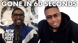 Nas chooses his fresh hairline over sneakers | Gone in 60 Seconds with Jalen Rose and Nas