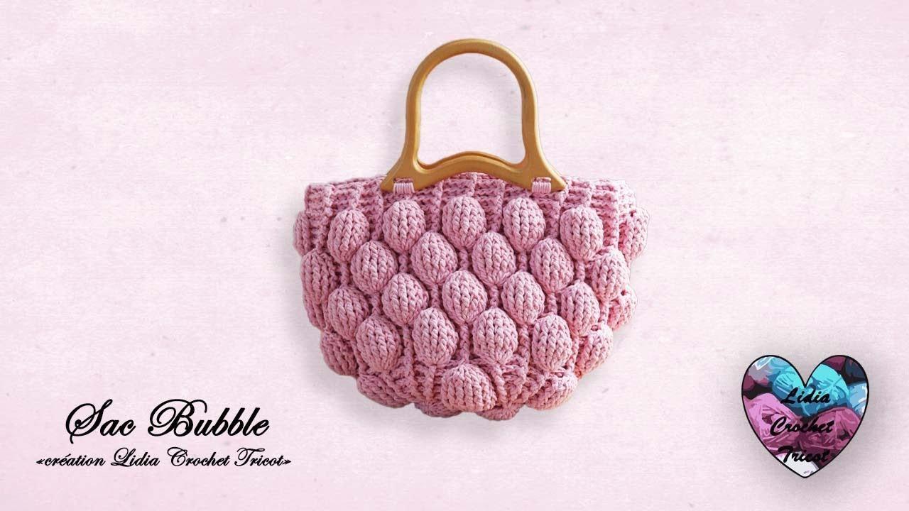 "Sac Bubble Crochet Tendance ""Lidia Crochet Tricot"""