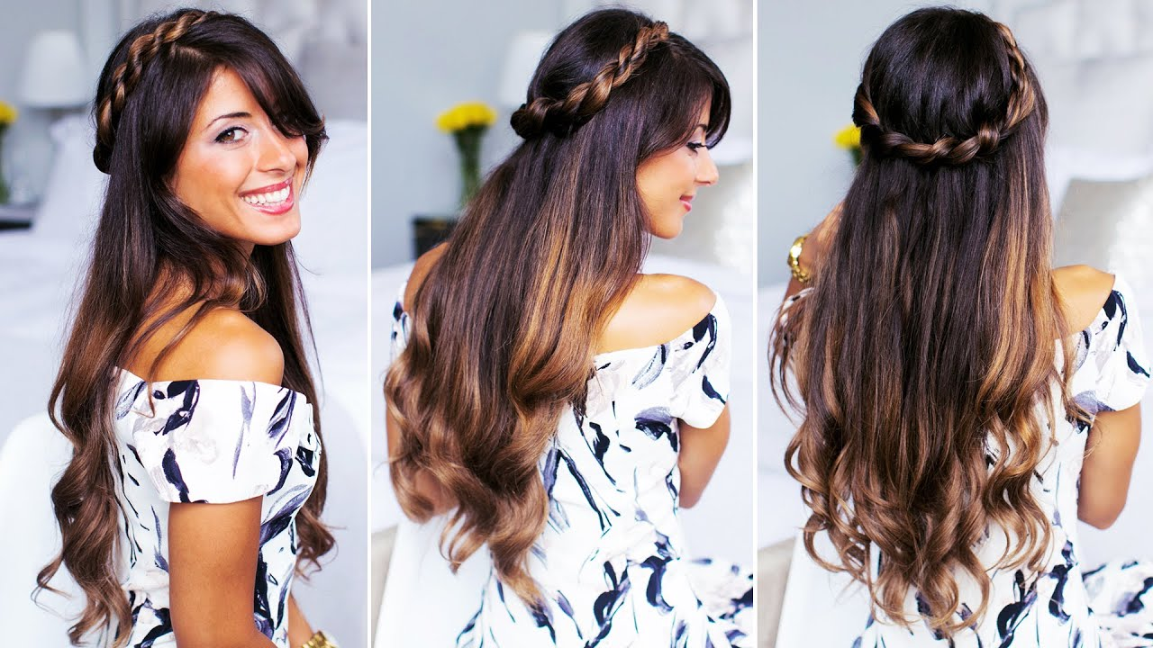Twisted Half Up Do Hairstyle YouTube