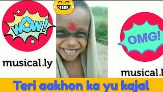 Teri aakhon ka yu kajal ft. Village kid   cant stop your laughter   #funwithfiroj