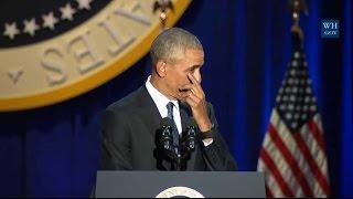 Les larmes de Barack Obama pendant son discours d
