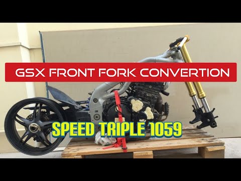How to Fork Swap Speed triple using GSXR Front end forks
