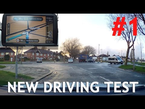 Real Example #1 of New Test Route with Sat Nav - Driving Tes