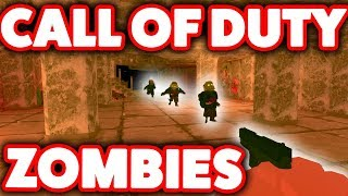 NEW CALL OF DUTY ZOMBIES IN ROBLOX??? *ADDICTING*