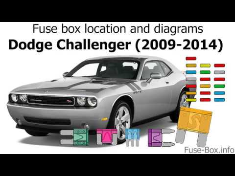 Fuse box location and diagrams Dodge Challenger (2009-2014) - YouTube