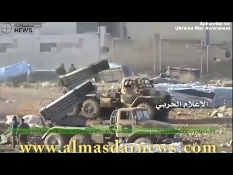 SAA using T-90 Tanks in intense offensive battle for Northern Aleppo February 2016