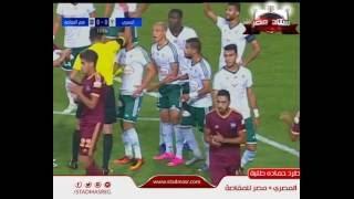 شاهد احمد الشيخ لاعب الأهلي المعار للمقاصة يتسبب في طرد حمادة طلبة من الملعب