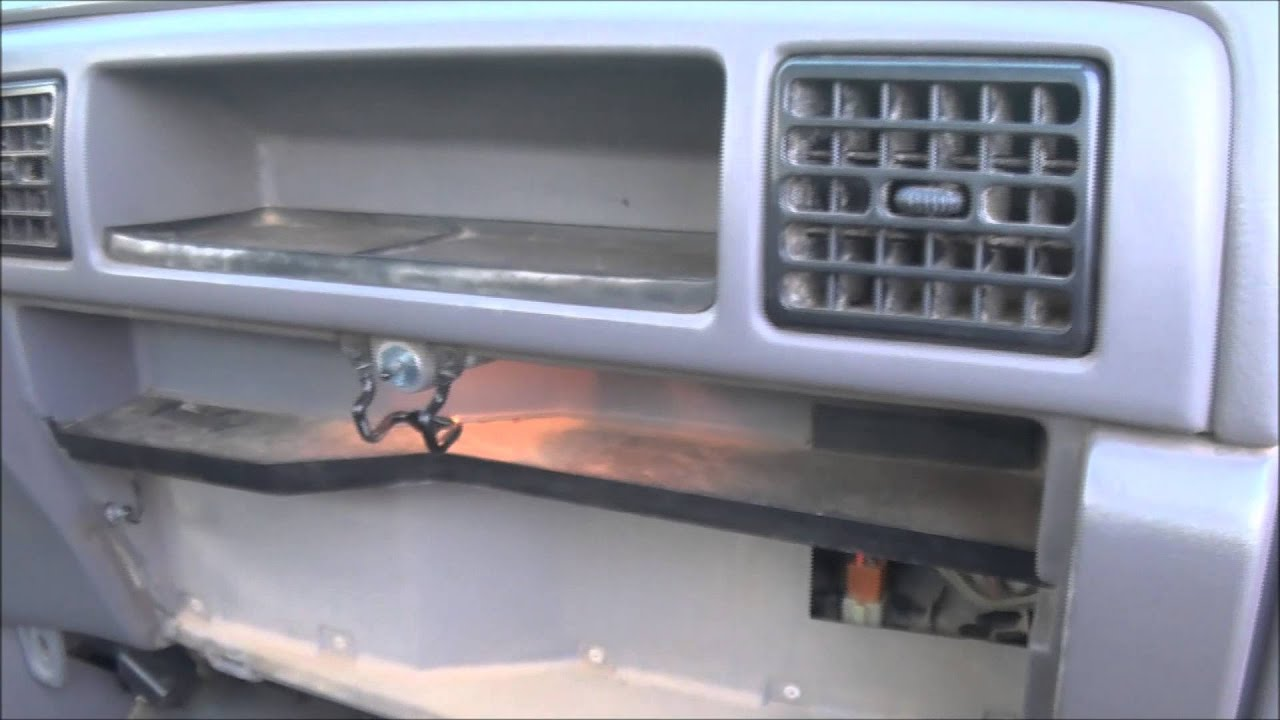 small resolution of heater core through glove compartment