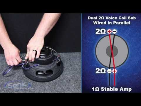 How to Wire a Dual 2 ohm Subwoofer to a 1 ohm Final Impedance | Parallel Wiring | Car Audio 101