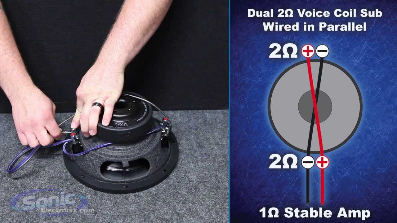 How to Wire a Dual 2 ohm Subwoofer to a 1 ohm Final Impedance   Car Audio 101  YouTube