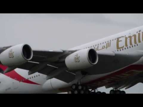Airbus A380 Emirates takeoff
