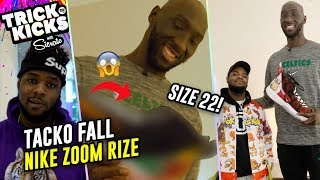 "7'7"" Tacko Fall Gets RIDICULOUS Size 22 Customs! #1 Sneaker Designer In World Sierato GOES OFF💧"