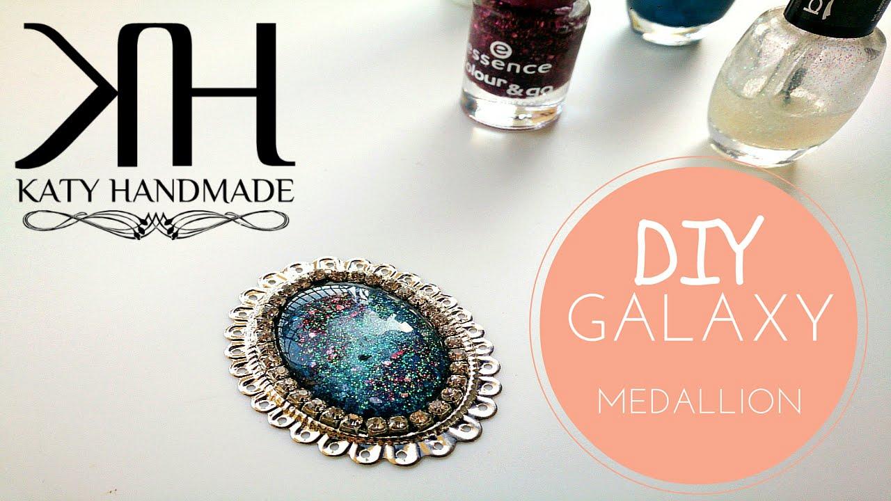 diy 🌌 medaglione galattico - galaxy effect necklace ⚫ katy