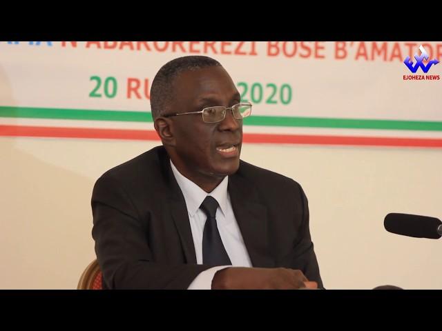 #EjohezaNews: Umviriza ico umukuru w'umurwi CENI ashikiriza
