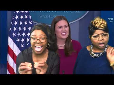 Diamond and Silk Monitors The White House Press Briefing With Sarah Huckabee Sanders