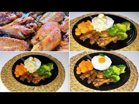 recette-ailes-de-poulet-marinées-avec🥦🥕-وصفة-رهيية-لأجنحة-الدجاج-في-الفرن
