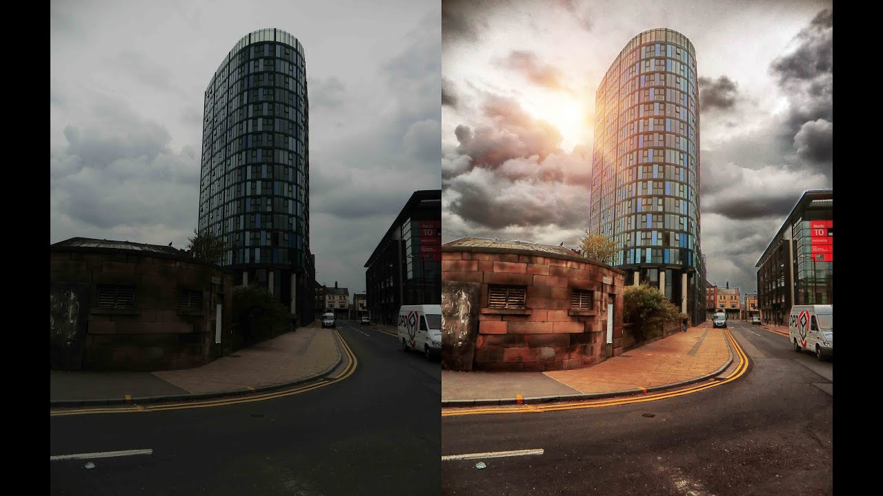 Architecture Photography Lighting photoshop - photo manipulation - lighting effect - youtube