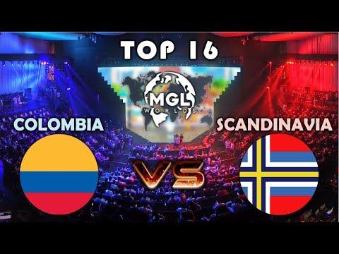 COLOMBIA vs SCANDINAVIA | TOP16 MGL WORLDS | CLASH ROYALE