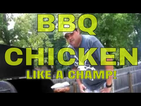 How To BBQ CHICKEN LEGS On The Grill Recipe - LIKE A CHAMP!!!
