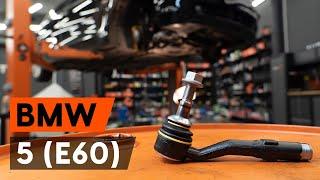 Stūres šķērsstiepņa uzgalis uzstādīšana BMW 5 (E60): bezmaksas video
