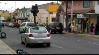 El carro de google no pudo tomar fotos en Metepec =( Free HD Video