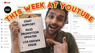 Chat Support Shortcut in Studio, Paid Promotion Updates, Known Issue in LCR, and more!