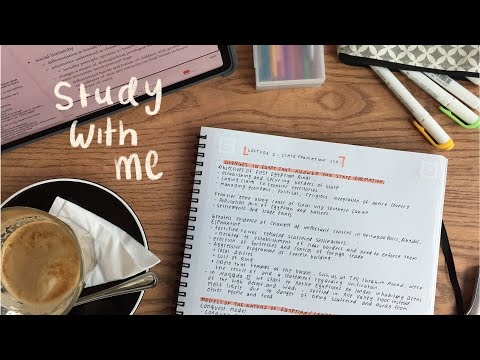 aesthetic note taking in a cafe | University of Auckland