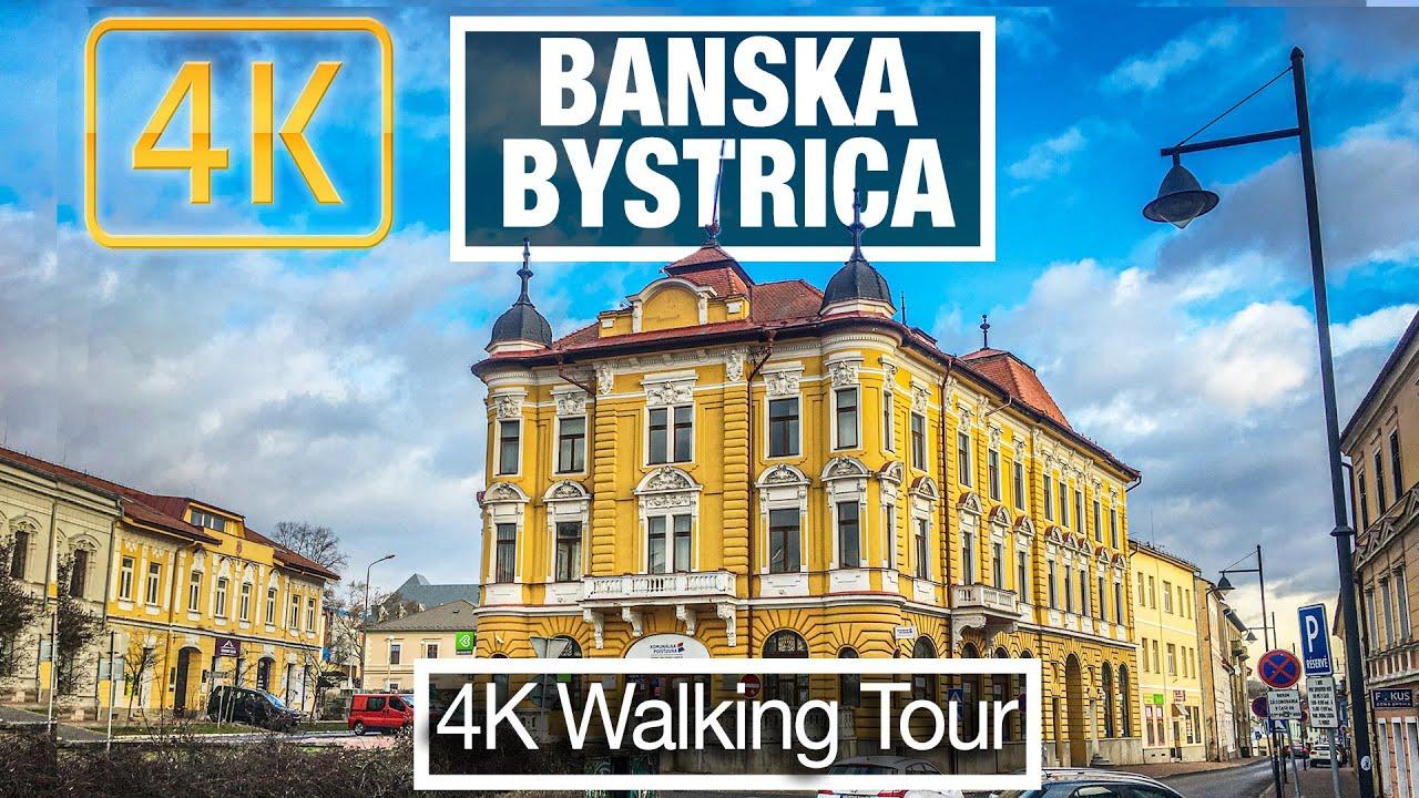4K City Walks: Banska Bystrica, Slovakia Residences in Winter - Virtual Walk Treadmill City Guide