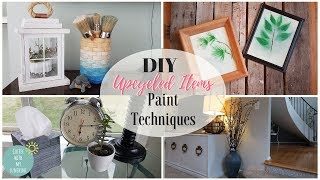 DIY UPCYCLED THRIFT STORE ITEMS | PAINT TECHNIQUES OMBRE BOHO HOME DECOR IDEAS | TRASH TO TREASURE