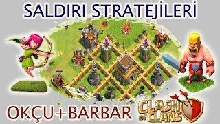 Clash of Clans Saldırı Stratejileri #1: Okçu+Barbar